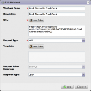 block disposable email webhook marketo